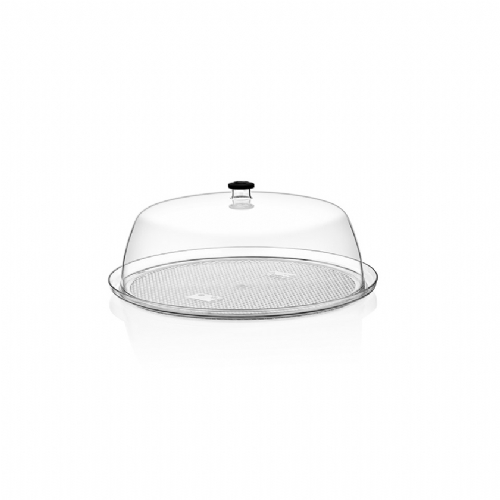 GF-13 / ROUND TRAY BLACK-CLEAR