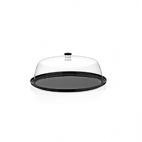 GF-13 / DOME COVER ROUND TRAY BLACK
